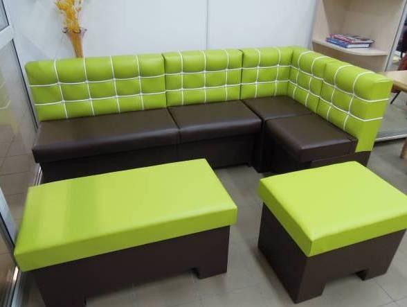 модульный диван со спальным местом для кухни