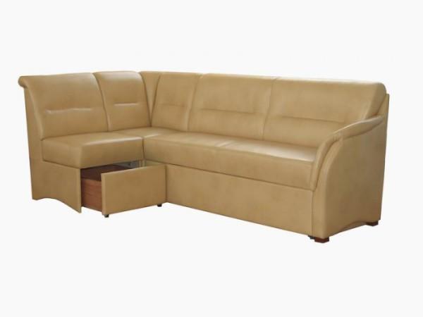 диван бежевый со спальным местом для кухни