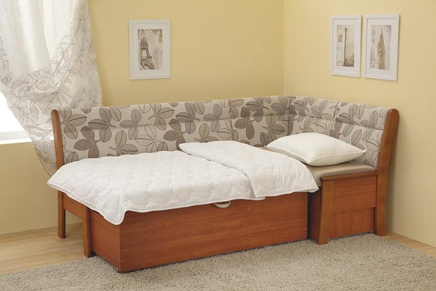 диван в разложенном виде для кухни