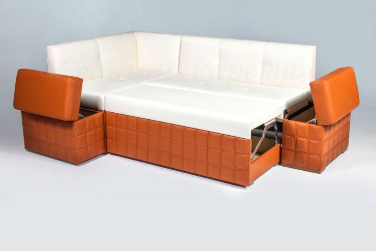 диван с нишами и спальным местом для кухни