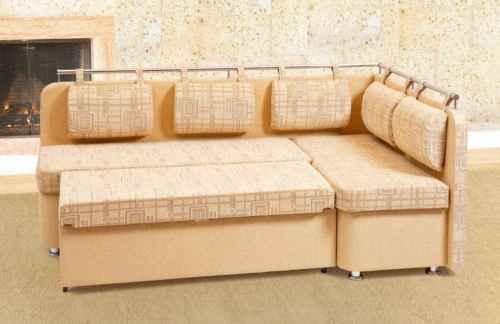 диван со спальным местом для кухни бежевый