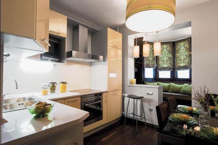 балкон с кухней