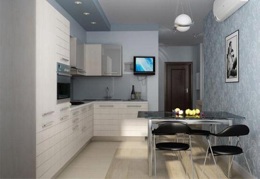 угловая кухня 11 кв.м.