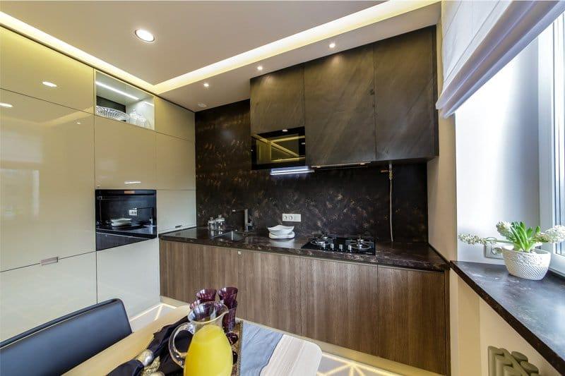 кухня 11 кв.м. в стиле модерн