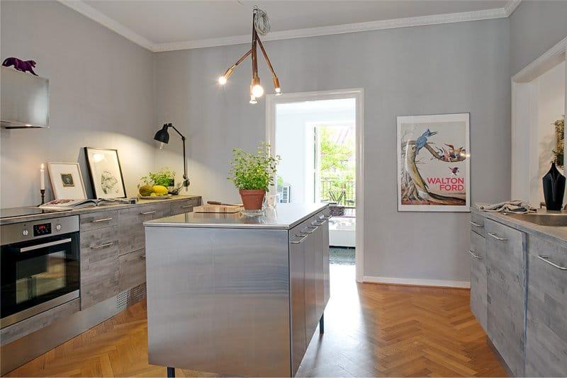 кухня 11 кв.м. с островной зоной