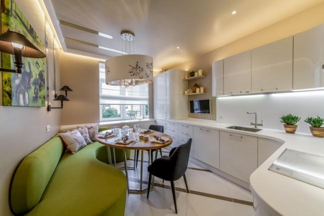 кухня 11 кв.м. с диваном
