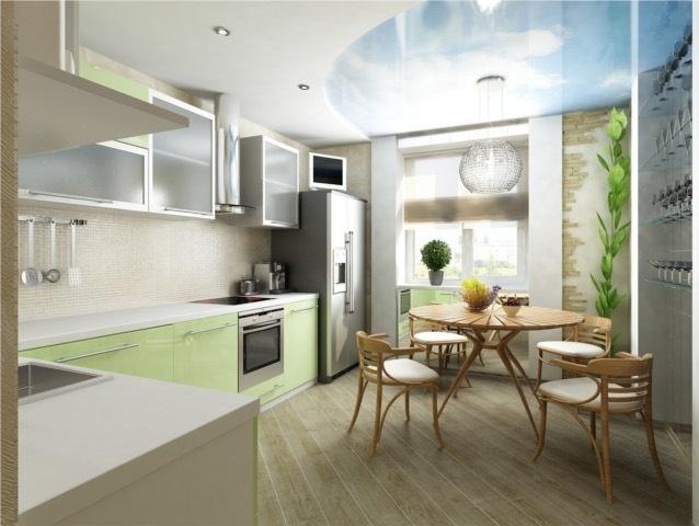 кухня 13 кв. м с обеденной зоной