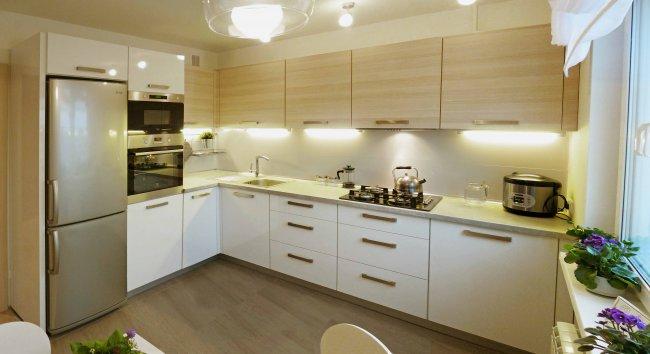 встроенное освещение на кухне