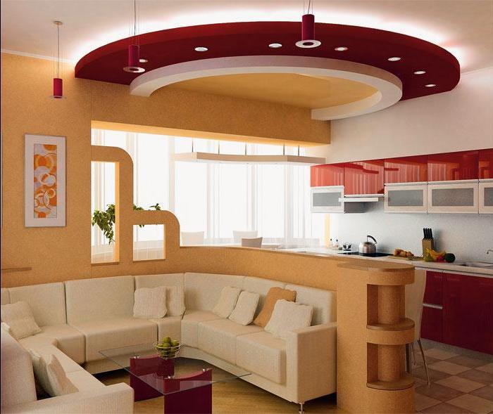 кухня 13 кв. метров с зоной отдыха