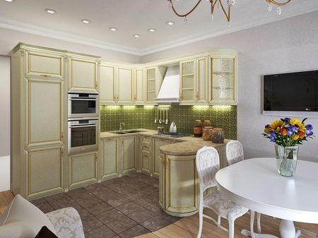 угловая кухня 13 кв. метров