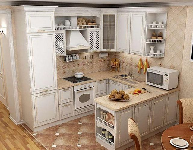 кухни 7 кв.м. П-образной формы
