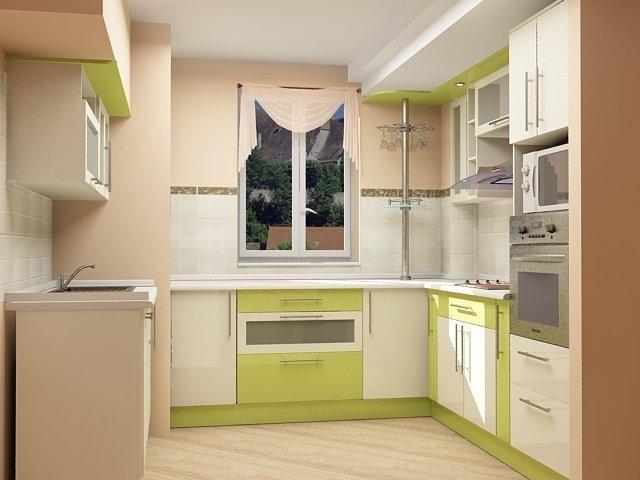 сочетание двух цветов на кухне 7 кв.м.