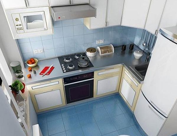 угловая кухня 7 кв.м