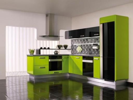 лаймовый на кухне
