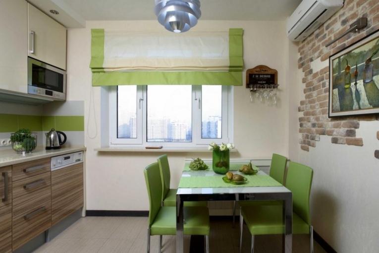 Варианты оформления окна на кухне