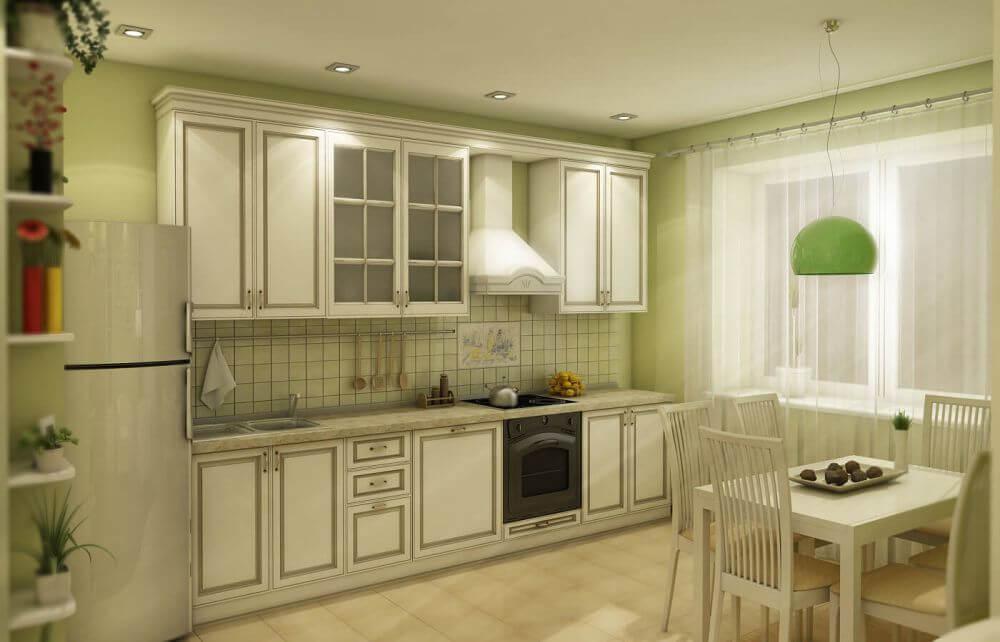 светло-зелёный на кухне