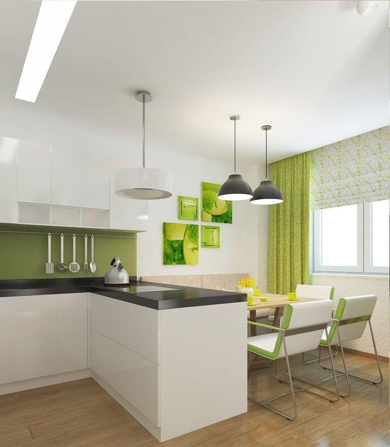 зелёный декор на кухне
