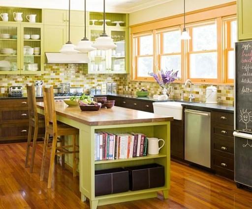 Дизайн кухни в зеленом цвете — фото современных интерьеров