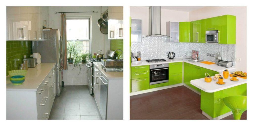 зелёный цвет на кухне