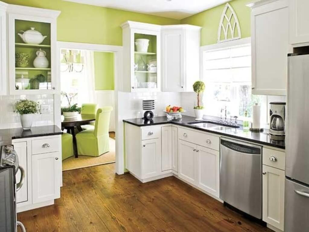 зелёная основа на кухне