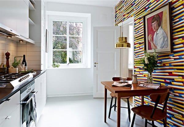 выделение стены на кухни