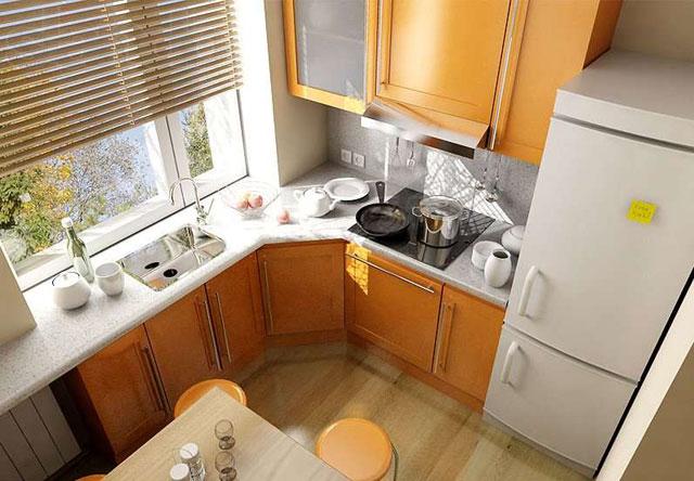 функциональное размещение на кухне