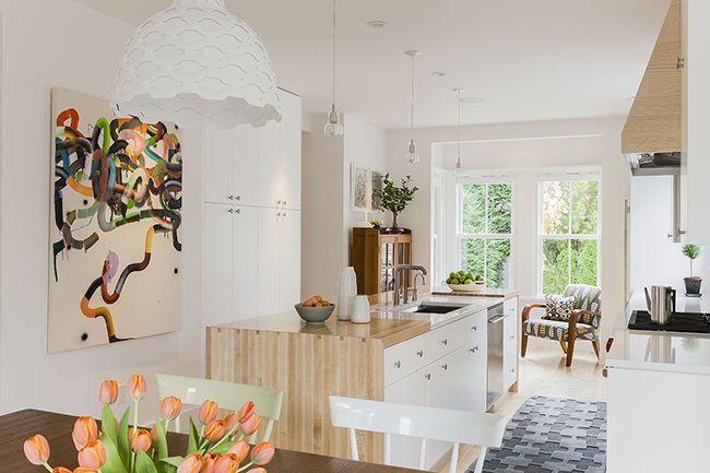 красивый интерьер современной кухни