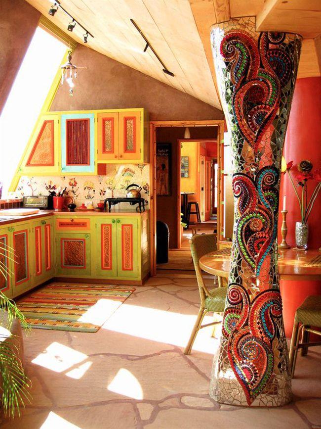 красивый интерьер восточной кухни
