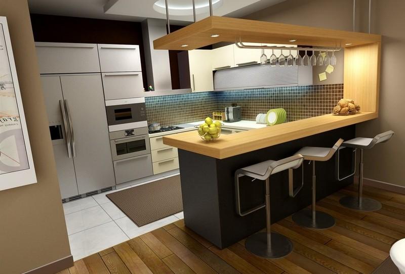 Дизайн кухни 10 кв м - фото новинки 2017 года