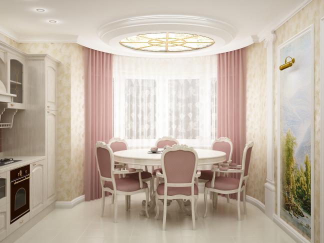 Дизайн кухни 10 кв м многоуровневый потолок
