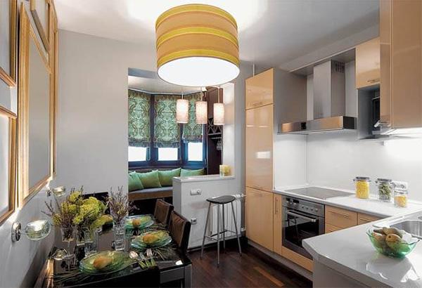 кухня с балконом 10 кв.м.