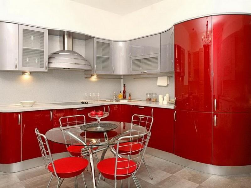 красная кухня 10 кв.м