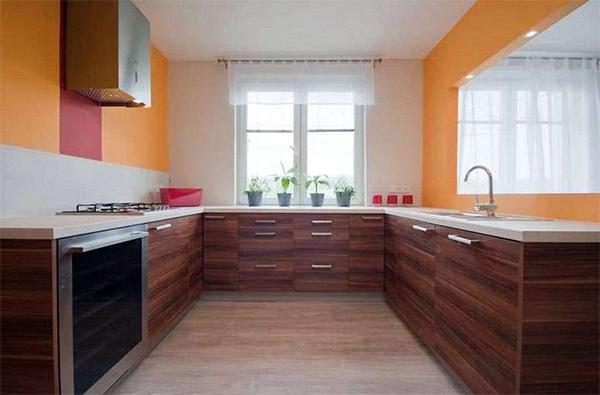 П-образная кухня 10 кв.м