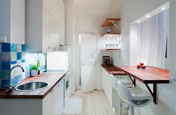 Кухня светлая 10 кв. м