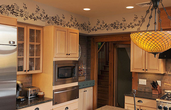 узор на стене кухни 3 на 3