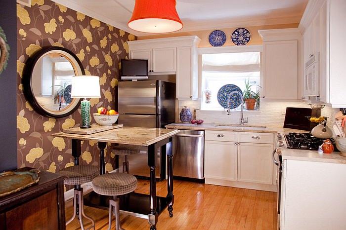 зонирование кухни 3 на 3