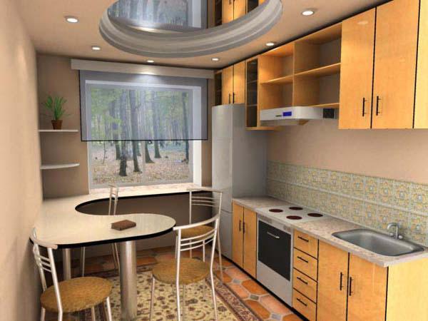 потолок на кухне 3 на 3