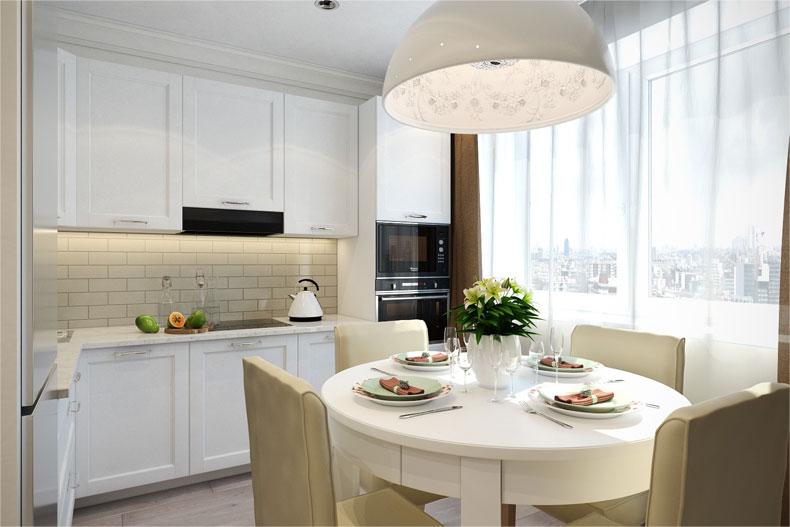 белая кухня 3 на 3