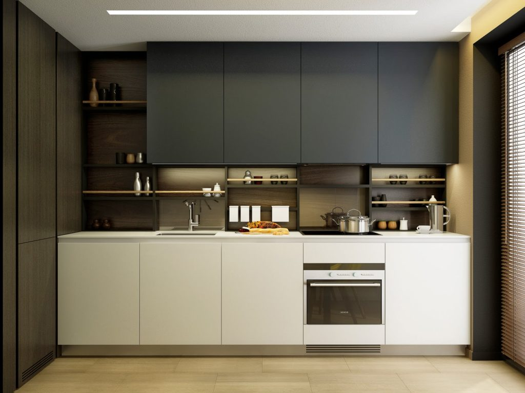 линейная кухня 3 на 3 метра