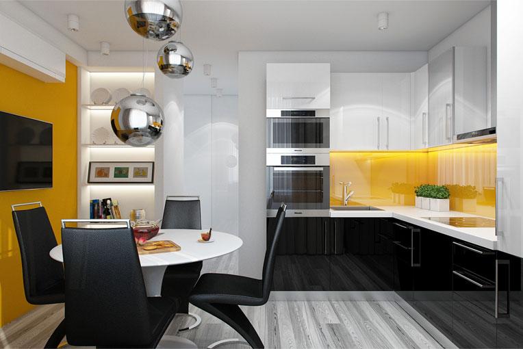 Кухни 9 кв метров дизайн реальные 382