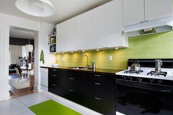 кухня 3 на 3 метра с чёрным низом