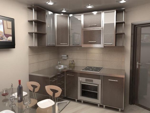 угловая кухня 3 на 3