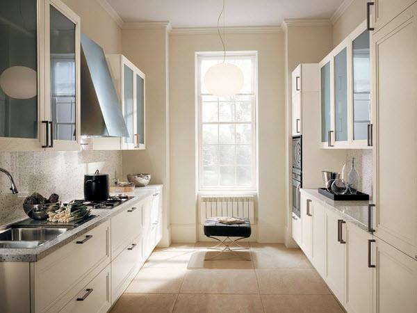 двухрядная кухня 3 на 3 метра