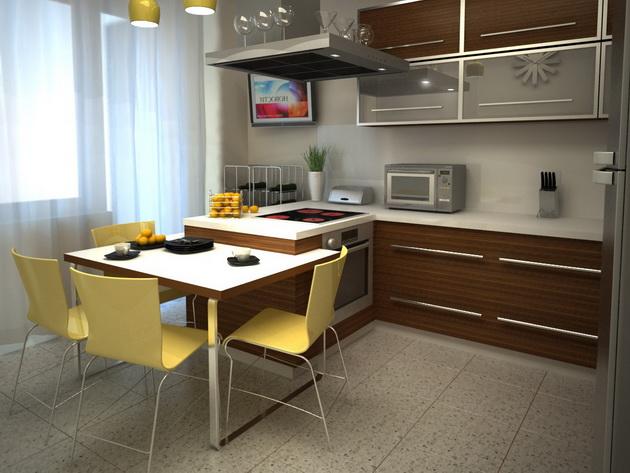 гарнитур для кухни 3 на 3