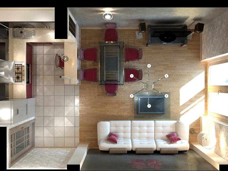 дизайн проект кухни 17 кв. м
