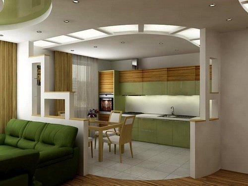 освещение на кухне 17 кв.м.