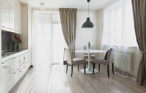 Дизайн кухни гостиной 17 кв.