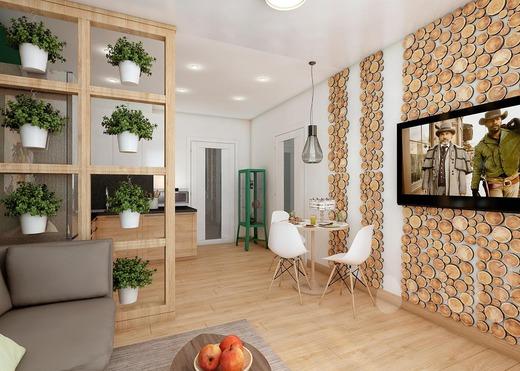 эко стиль на кухне 17 кв.м.