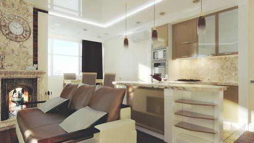классический интерьер на кухне