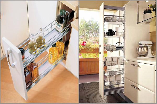 выдвижные ящики для кухни на балконе